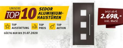 TOP 10 - Aluminium Haustüren von WERU